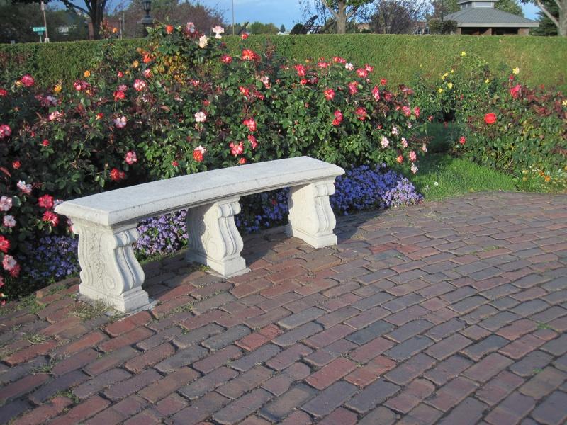 Leif Erikson  Rose Garden Bench